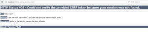 Could not verify the provided CSRF token