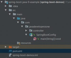 Spring boot java 9 example - project
