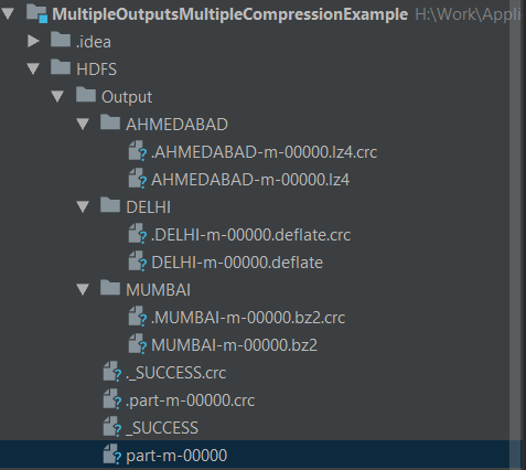 Hadoop Multiple Compression Local Debug Output